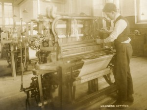 Image of student at loom