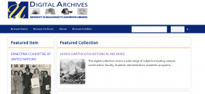 Digital Archives web page